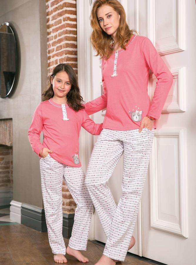 Anne Kız Pijama Takımı (1)