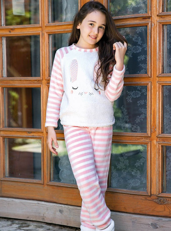 Tavşanlı Anne Kız Pijama Kombini