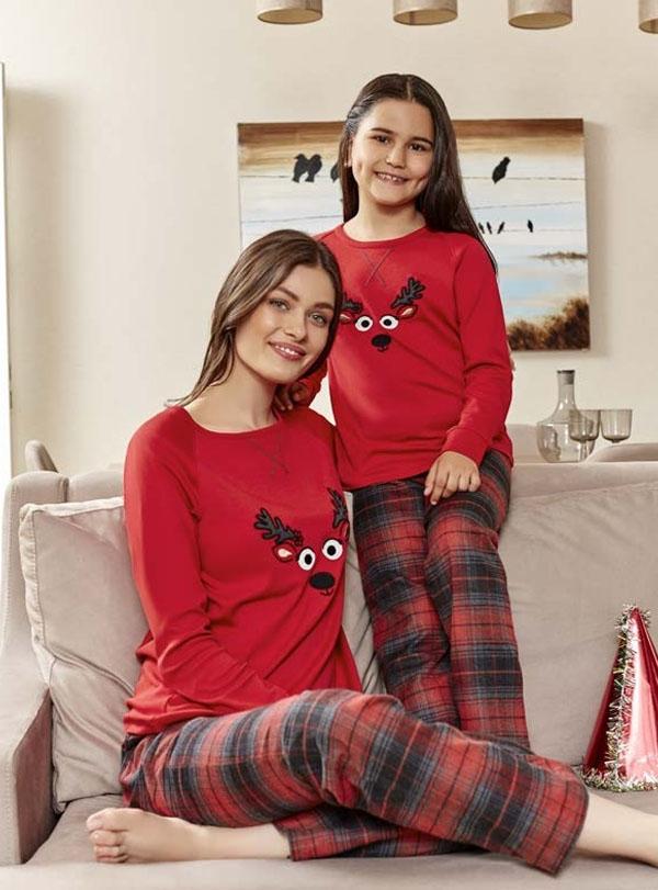 Kareli Anne Kız Pijama Kombini
