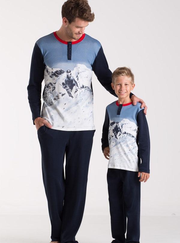 Uzun Kollu Baba Oğul Pijama Takım