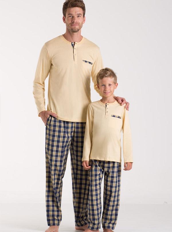 Kom Baba Oğul Pijama Kombini