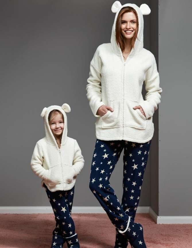 anne kız pijama takımları