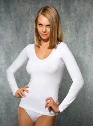 Doreanse - Doreanse V Yaka Bayan T-Shirt 9385