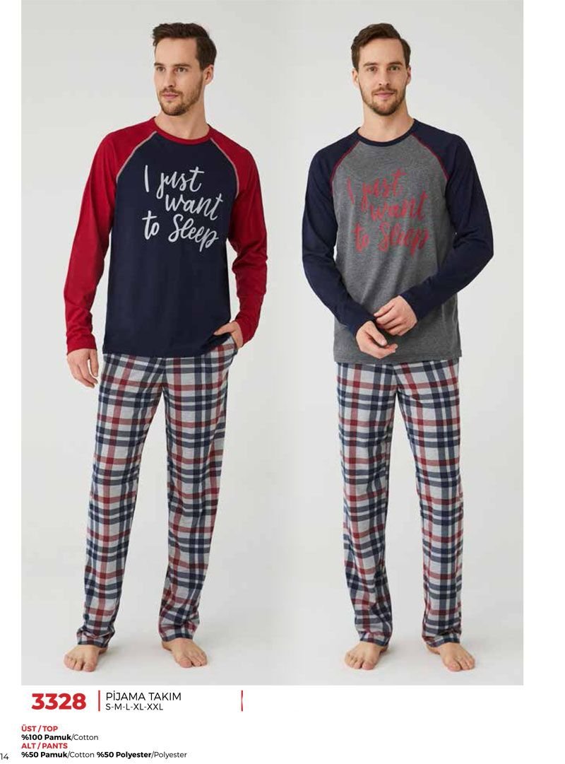 Ekoseli Sevgili Pijama Takımı (1)