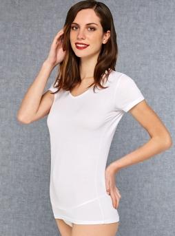 Doreanse V Yaka Bayan T-Shirt 9393 - Thumbnail