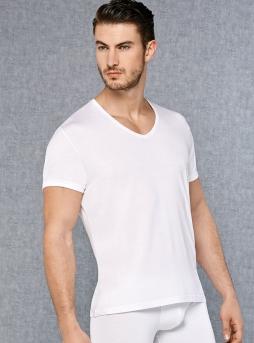 V Yakalı Kısa Kol Erkek T-Shirt 2865 - Thumbnail