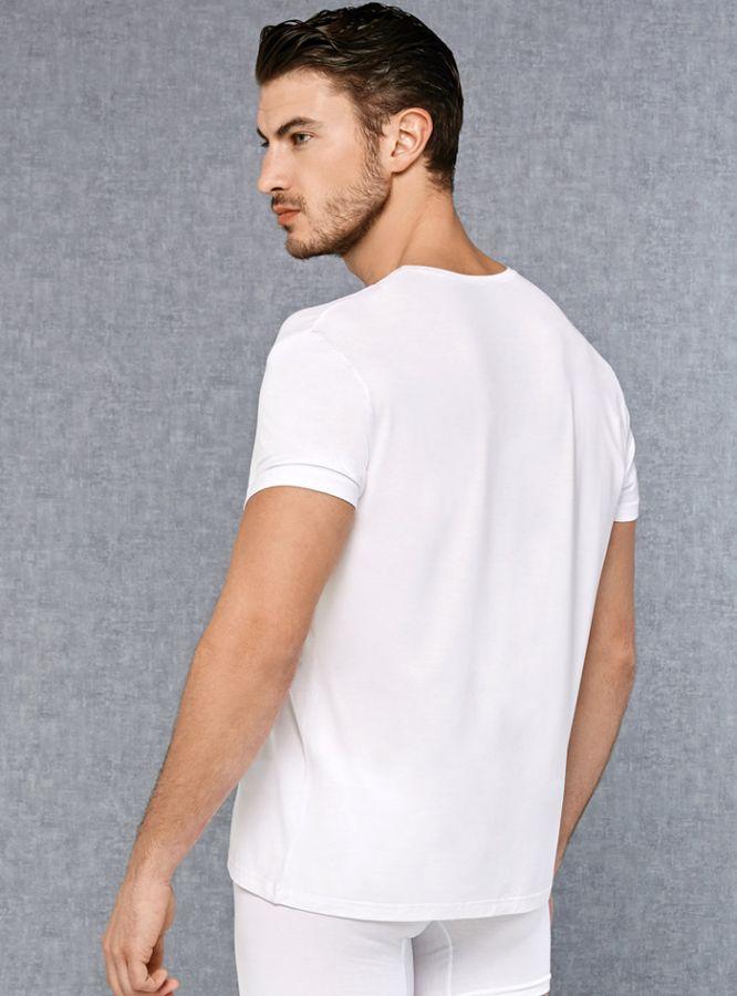 V Yakalı Kısa Kol Erkek T-Shirt 2865
